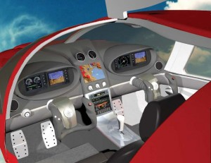 This computer simulation of a Nexaer LS1 trainer features digital avionics. The plane is available in three levels—standard, trainer and luxury edition—but many options are available.