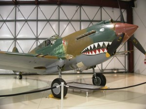 "This P-40C ""Tomahawk"" in Paul Allen's Flying Heritage Collection at Arlington Airport is the only known original P-40C in flying condition."