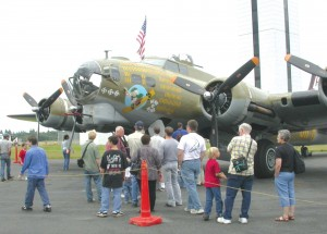 "This Collings Foundation B-17 visited Paine Field in July as part of the foundation's national ""Wings of Freedom"" tour to honor American World War II veterans."