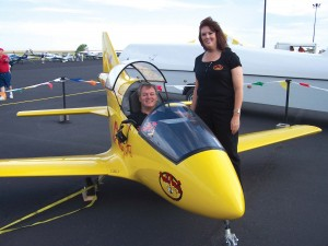 Michael and Sheila Morris exhibited their BD-5J as part of their Wild Wings n Things franchise development business based in Colorado Springs.