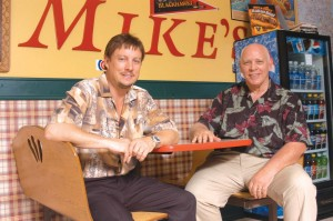 Barry Fiore, former owner of Fiore's Pizza (right) bought Chicago Mike's Deli a year ago with Steve Schnarr (left).