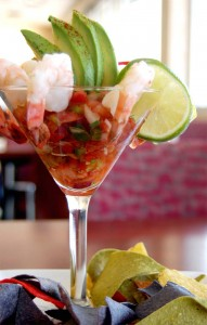 Perfect Landing's shrimp cocktail appetizer is a fiesta for the eyes as well as the palette.