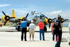 All visitors were treated to flight line access to the historical B-17.