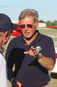 Harrison Ford, who has signed up for two more years as the chairman of Young Eagles, got his private pilot's license in the mid-1990s.