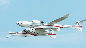 White Knight and SpaceShipOne depart Oshkosh.