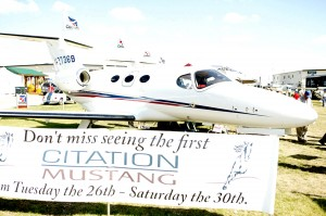 The Cessna Mustang made its first appearance at EAA AirVenture Oshkosh 2005.