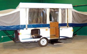 Adventure Camper Rentals only rents one type of camper called Fleetwood Tent Trailers because they're so easy to use.