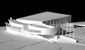 A model of Xjet's future clubhouse.
