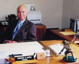 Charlie Gates at his office in Denver in 2002.