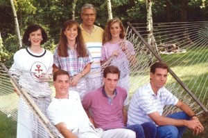 Rick Carpenter, far right, and his family the year before the accident.