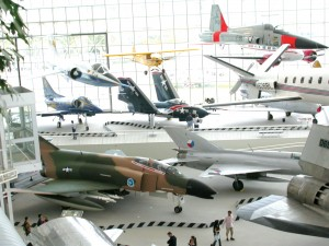 The T.A. Wilson Great Gallery is a major attraction for more than 400,000 visitors each year, along with the new Personal Courage Wing housing the museum's new fighter plane collection.