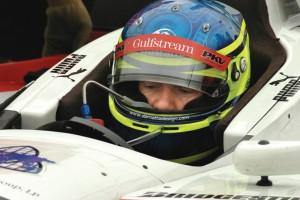 Cristiano da Matta prepares for the Grand Prix of Denver, supported by a sponsorship from Gulfstream.