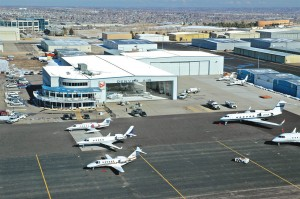 Among the Denver AirCenter's many amenities are over 60,000 square feet of heated hangars, a passenger lounge, pilot's planning room and a ramp-side restaurant, the Runway Grill.