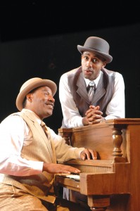 "L to R: Eric Lee Johnson and Kenny Moten star in the production of ""Ain't Misbehavin'."""