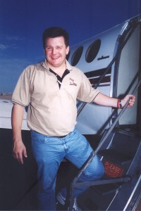 Michael Bidwill, of the Arizona Cardinals, boards his King Air on a humanitarian mission to Louisiana.