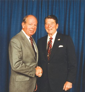 David Hinson meets President Reagan in 1984.
