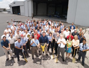 Banyan Air Service, located at Fort Lauderdale Executive Airport, recently celebrated a long-awaited ground breaking ceremony for a new FBO terminal building.