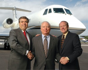 L to R: Larry Matiello, president of the new AirSure Limited; Dell Van Glider, chairman of Van Glider; and Bill Behan, managing director of AirSure Limited.