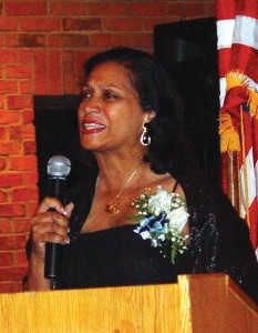 Cheryl McNair shared poignant memories of her husband, Ron McNair, who brought his saxophone into space, planning to share a medley of tunes with his fellow Americans on earth.