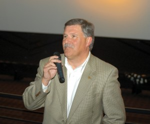 "Centennial Airport Director Robert Olislagers served as master of ceremonies for the exclusive premiere of ""One Six Right."""