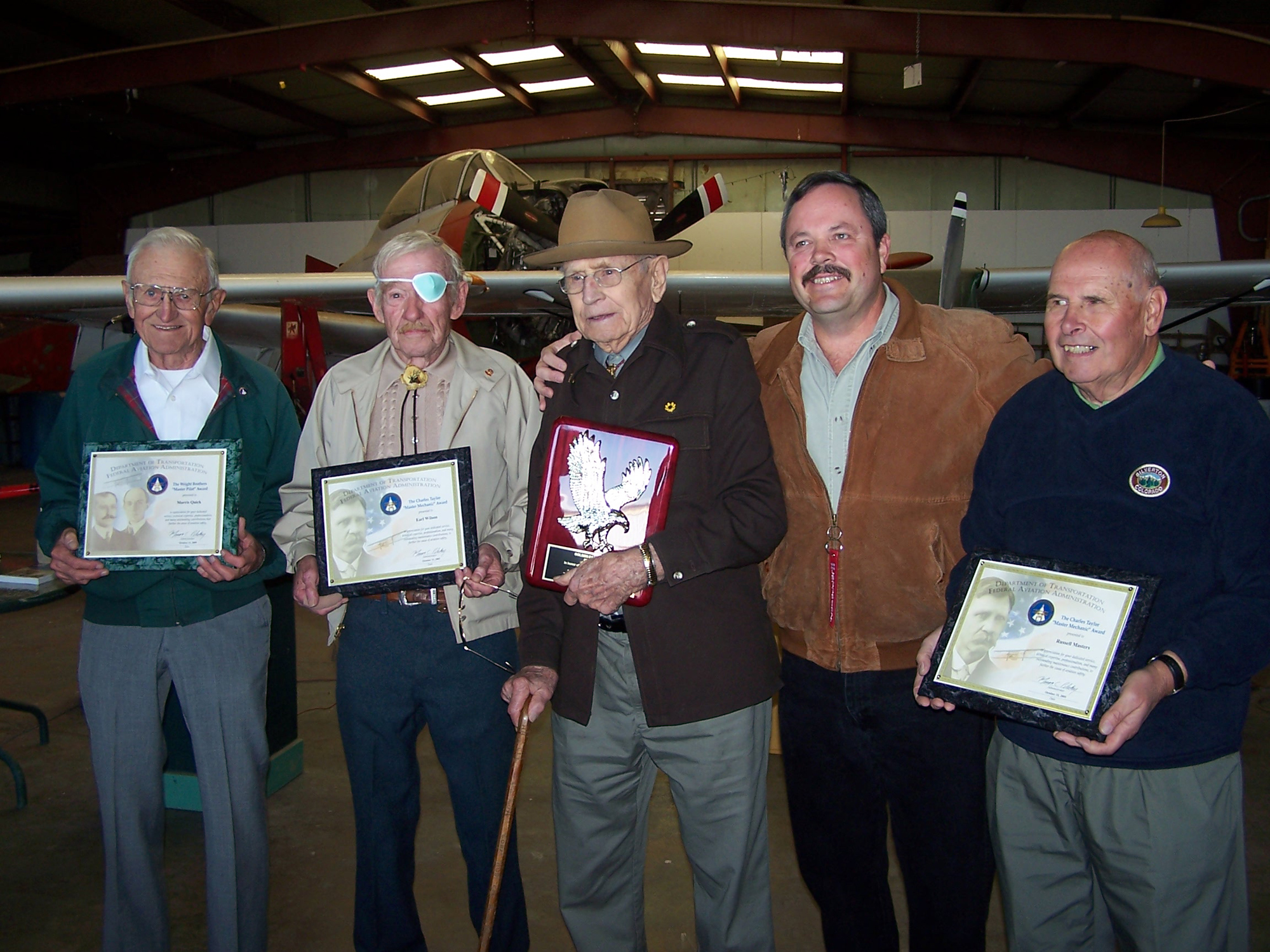 Four Outstanding Colorado Aviators Honored at Platte Valley Airport