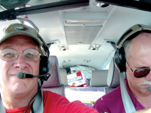 L to R: Pat Shaub and Ken Wittekiend have transported food, water and baby supplies to hurricane-ravaged Louisiana.