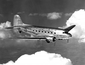 "American Airlines' ""Flagship San Francisco Skysleeper"" (DST NC 28325, c/n 2263) was sold to Transcontinental & Western Air and later became a C-49E with the USAAF."