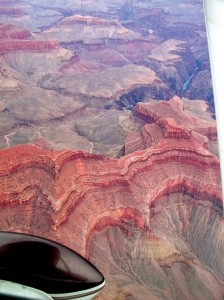The Colorado River courses beneath our wheels through the Grand Canyon.