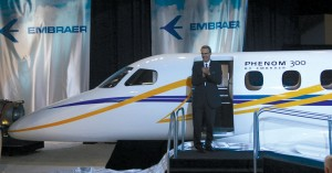 The Embraer Phenom 300 light jet and Phenom 100 VLJ aircraft were unveiled.