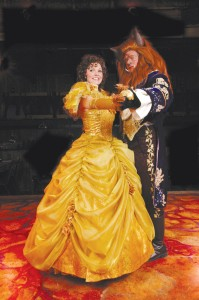"Leah Berry and Gary Lindemann star in the Country Dinner Playhouse Production of Disney's ""Beauty and the Beast."""