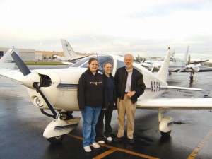 L to R: Kandyce Cowart, Brittany Boatright and Young Eagles pilot Gene Hokanson died on October 15 in the first fatal crash since the Young Eagles program began in 1992.