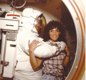 Mike Mullane's favorite sparring partner was astronaut Judy Resnik.