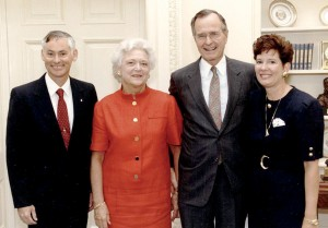 Mike and Donna Mullane were invited to the White House to be honored by President Bush in 1990.