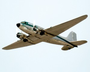"John Pappas piloted ""Rose,"" the third DC-3 in the flight."