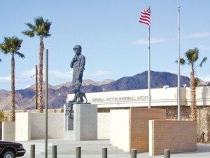 General Patton's larger-than-life monument greets visitors to his namesake museum at Chiriaco Summit.