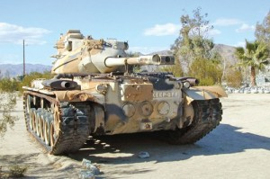 This M47 Patton tank is among several models named for the famous general.