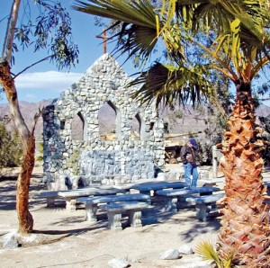 This outdoor chapel served troops of the Desert Training Center.