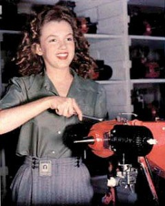 David Conover discovered Norma Jeane Dougherty at the Radioplane Company.