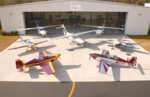 Extra's lineup of aerobatic and business planes is impressive.