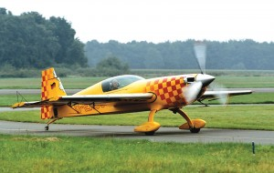 Walter Extra, Extra Aircraft LLC founder and aerobatic champion, prepares to takeoff in his 300S.
