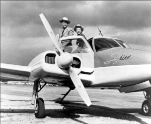 """Sky King"" starred Kirby Grant as Schuyler ""Sky"" King and Gloria Winters as his niece, Penny."
