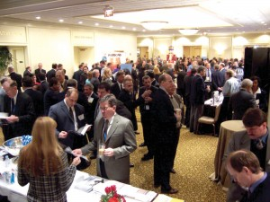 Attendees filled the lobby and several rooms.