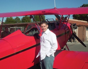 "Brian J. Terwilliger produced and directed ""One Six Right."" The Fleet biplane behind him appears in the film."