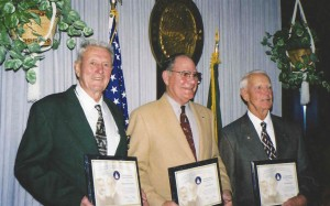 L to R: Harold Gibson, Robert Beabout and Dean Baird recently received the Federal Aviation Administration's Wright Brothers Master Pilot Award.