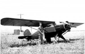 Harold Gibson is shown with a Rearwin Sportster in 1940.
