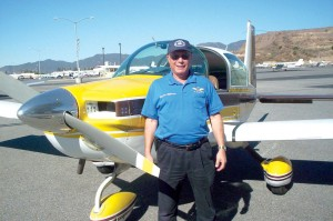 Our pilot, Ron Millman, flew his four-place Grumman Tiger to Zamperini Field in Torrance. There, I interviewed John Collver.