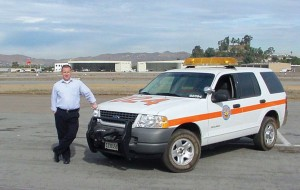 Roger Griffiths, manager of Gillespie Field Airport in southern California, spends a large share of his workday out on the field.