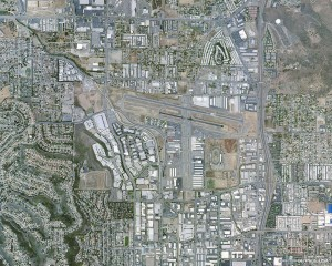 Gillespie Field Airport can be seen in the upper right corner of this aerial shot.