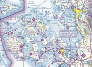 Most Mercy flights originate atOrcas IslandAirport (ORS).Destination airportsare usuallyBellingham International (BLI) to the northeast and Skagit Regional (BVS) to the southeast.