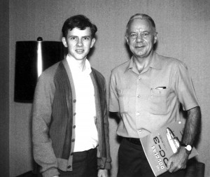 This 1969 photo shows 22-year-old Rick Broome with his childhood mentor, United Airlines Captain George Ferguson. Broome met Ferguson at age 14, and they maintained a father-and-son relationship for over 44 years. Captain Ferguson died peacefully in his s